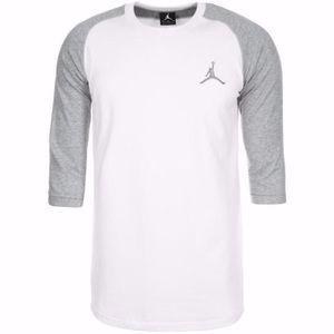 Nike Air Jordan 3/4 length sleeve Baseball tee